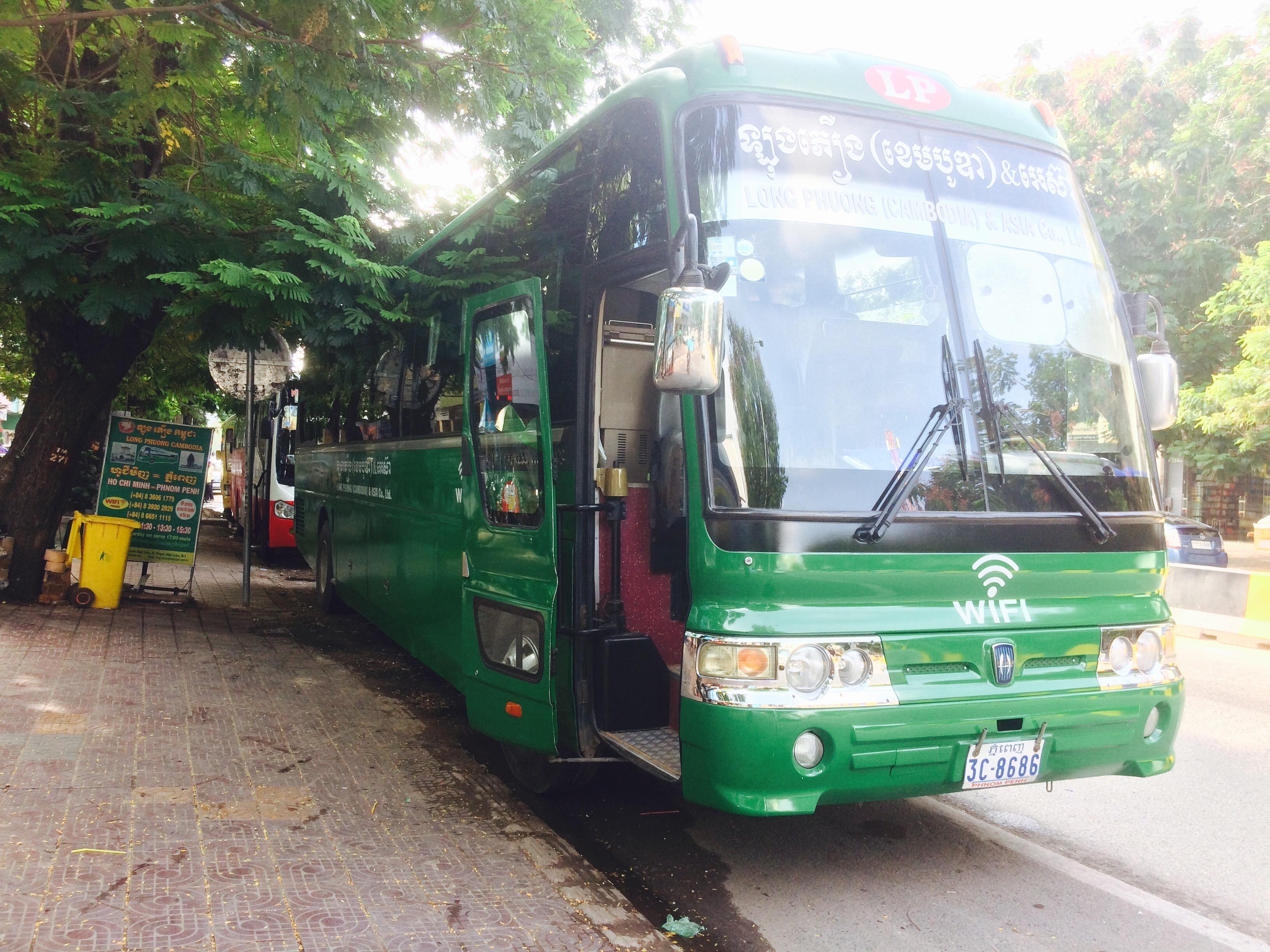 カンボジアからベトナムへバス移動。余裕の国境越え。