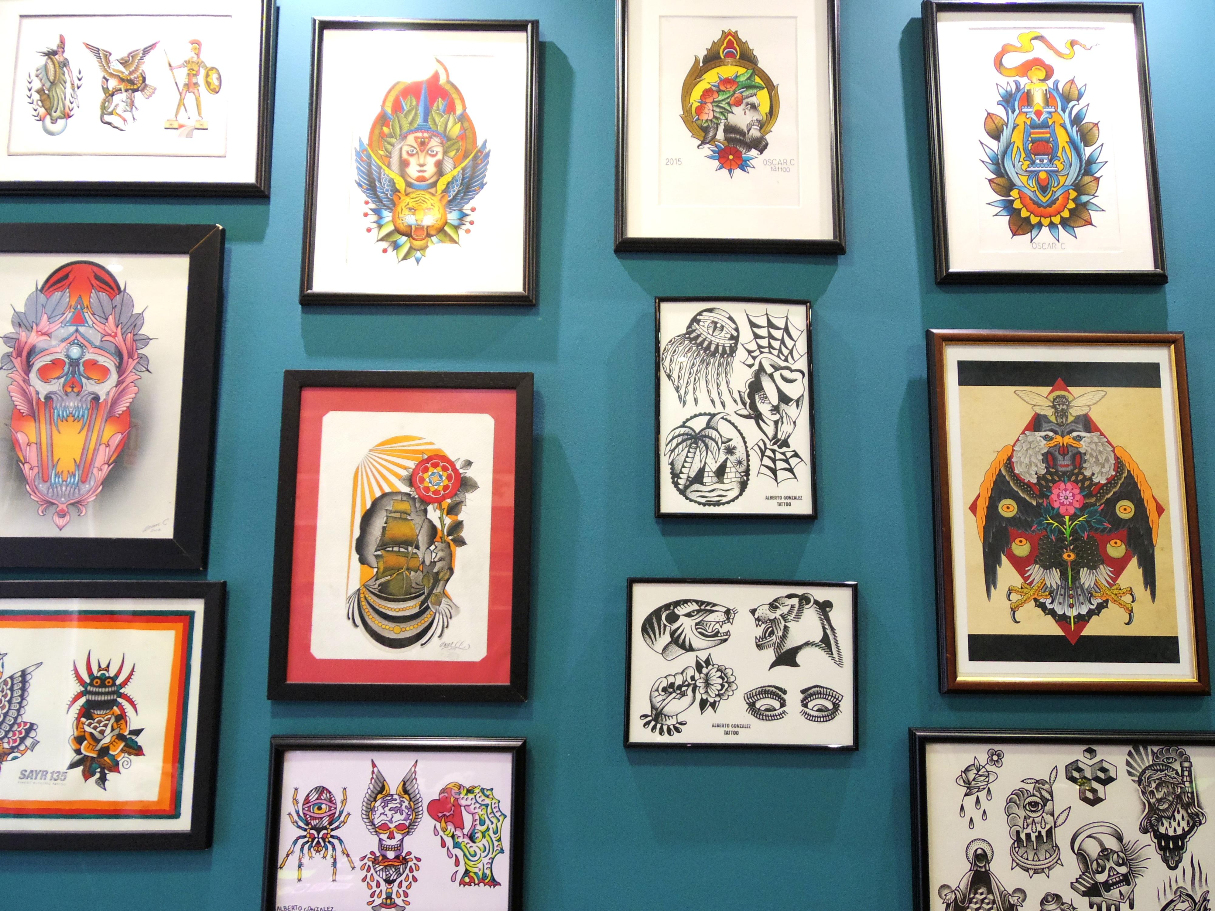 スペインのマドリードでタトゥーのお店に行ってみた。
